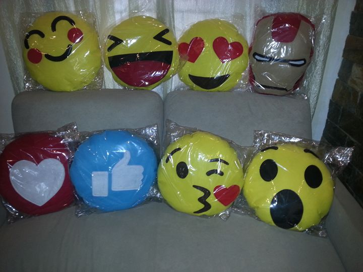 Handmade Emoji Pillows - Creations by Nyanah