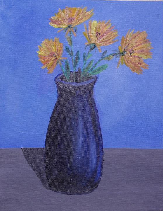 Blue Vase on Table - 8 x 10 - Sean Williams' Photography