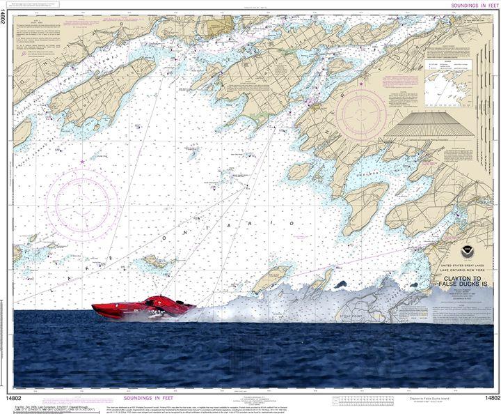 Clayton to False Ducks Island - ChartArt
