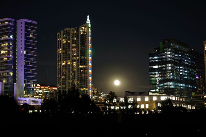 Austin Super Moon - Photography by Larry Landaker