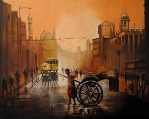 Rickshaw in the Rains
