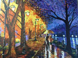 Romantic Rainwalk by the Lake