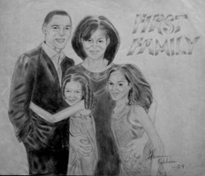 """""""First Family"""" Pencil Portrait"""