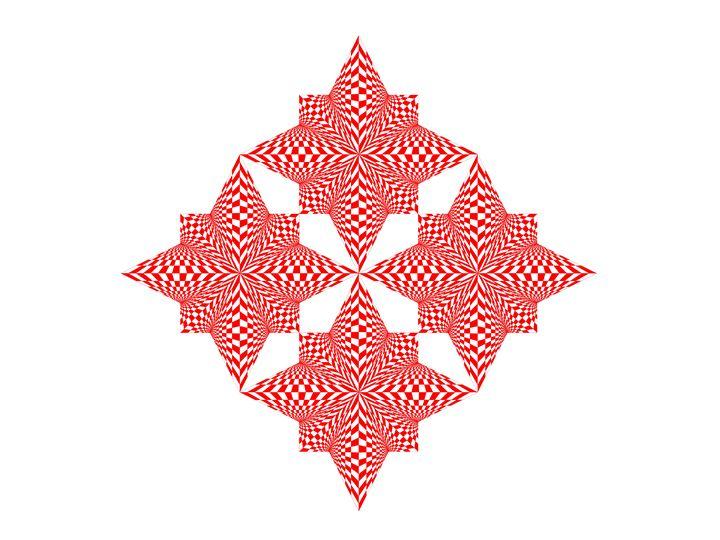 """Red Stars"" - SYMMO GRAPHICS"