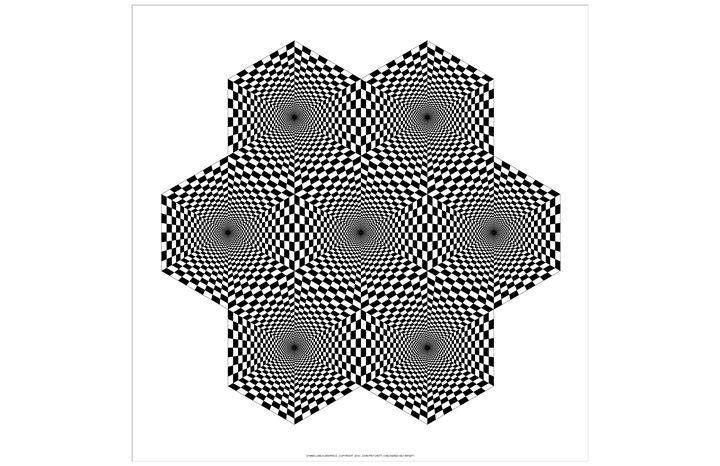 """Checkered Hex Infinity"" - SYMMO GRAPHICS"