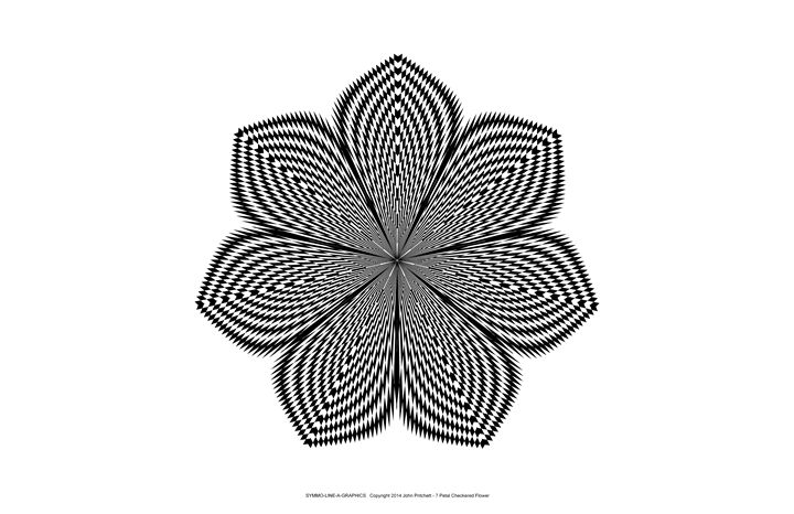 """7 Petal Checkered Flower"" - SYMMO GRAPHICS"