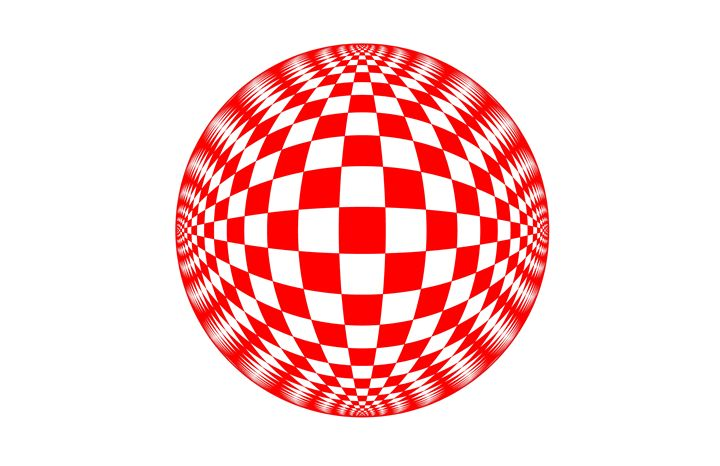 """Red Check Ball"" - SYMMO GRAPHICS"