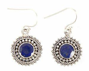 Sterling Silver Lapis Lazuli Earring