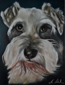 The Schnauzer - Timeless Art On Canvas
