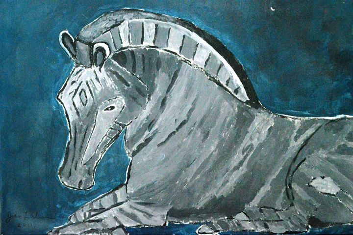 Blue Zebra - Timeless Art On Canvas