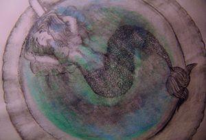 Mermaid in tea cup