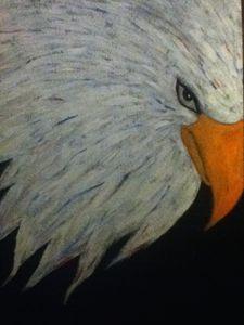 Patriotic bald eagle