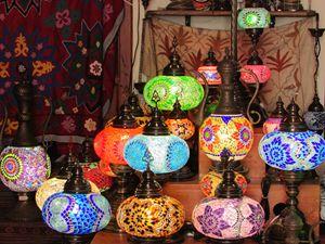 Oriental Mosaiac Mirror Lamps