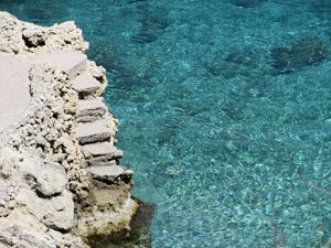 Stone Staircase in Water