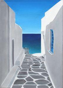 Greek Island Lane