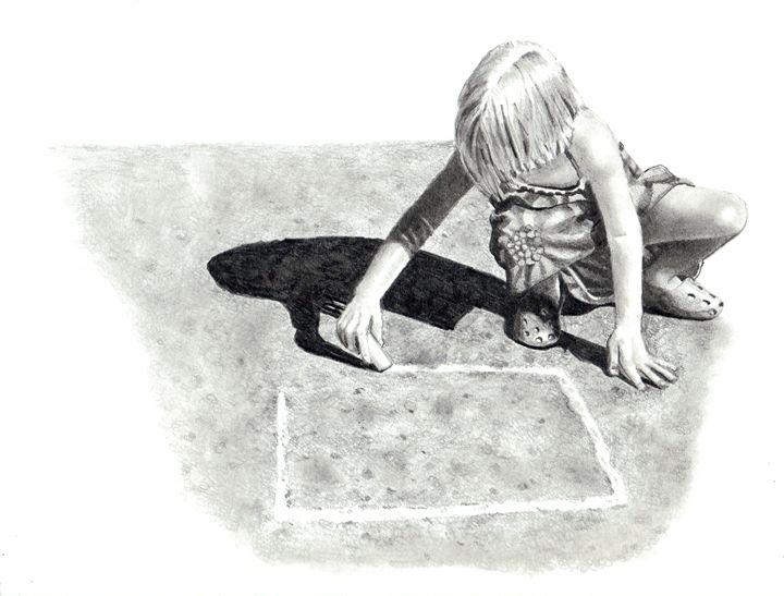 Playing Hopscotch No. 2 - Joyce's Art