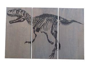 Fossil Velociraptor DINOSAUR SKELETO - The Cedar Workshop