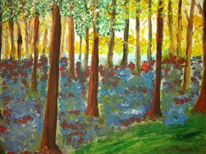 DAWN THROUGH THE TREES