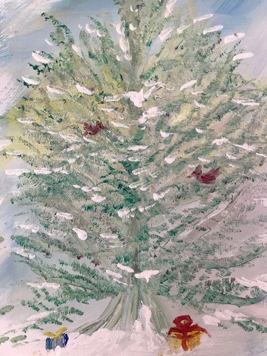 redbird's tree - Deborahmillsopen door