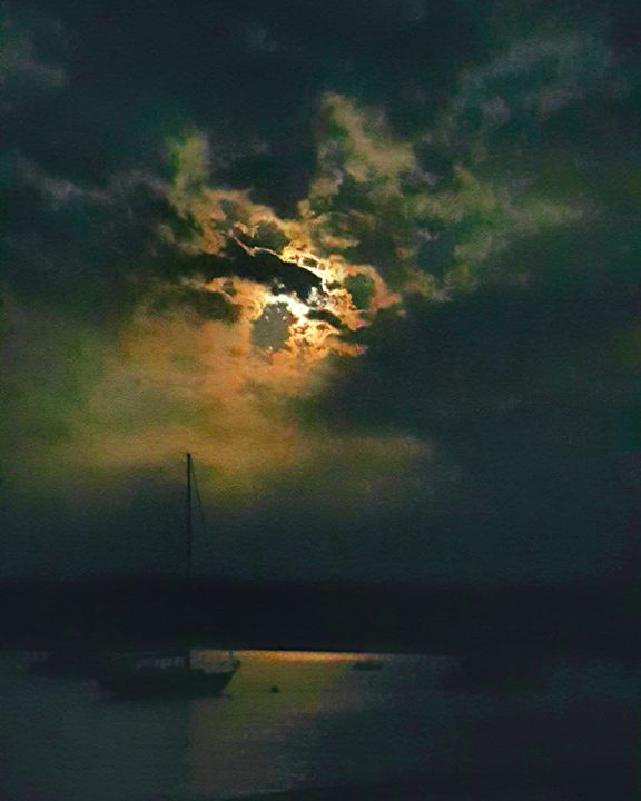 Moon Over the Connecticut river - The Adhizen