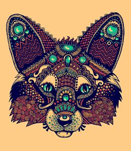 Tribal Zentangle Fox