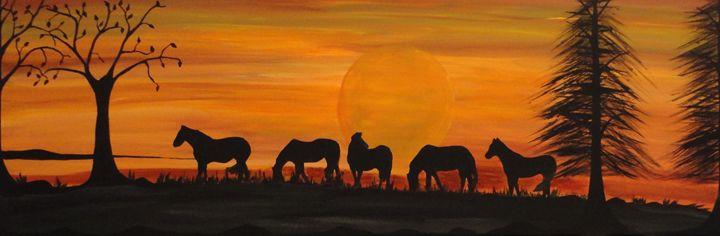 Wild wild horses - Northern Lights Art Co.