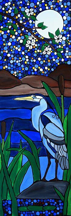 Blue Heron - Northern Lights Art Co.