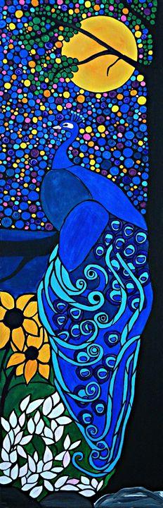Peaceful peacock - Northern Lights Art Co.