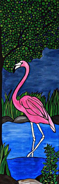 Pink Flamingo - Northern Lights Art Co.