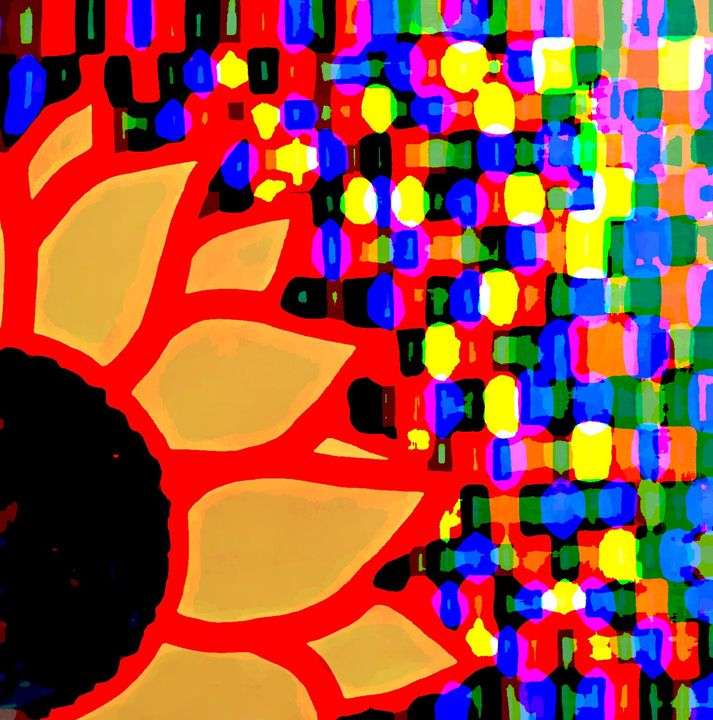 Sunflower mosaic - Her painted canvas