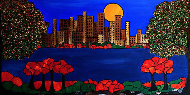City across the bay - Northern Lights Art Co.