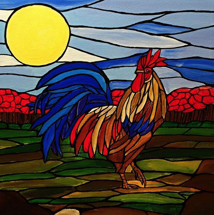 Country Rooster - Northern Lights Art Co.