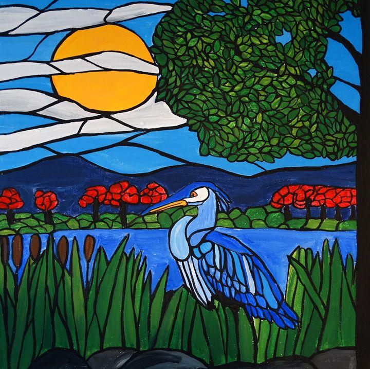 Blue Heron Marsh - Northern Lights Art Co.