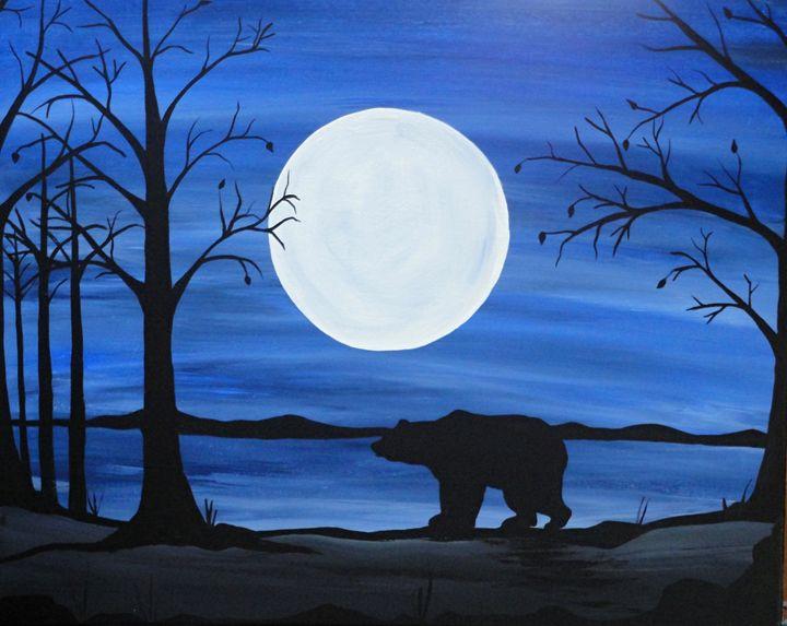 Winters shadow bear - Northern Lights Art Co.