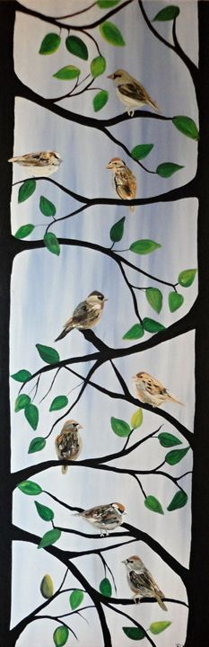 Sparrow Tree - Northern Lights Art Co.