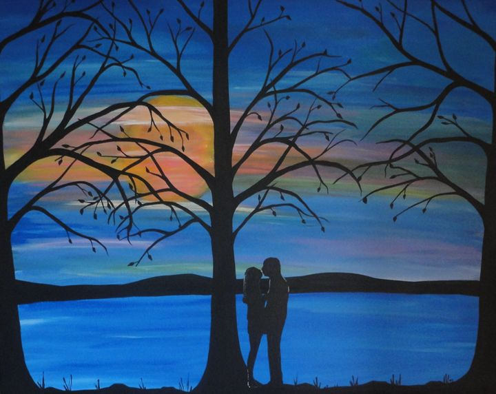 First Love, romantic painting - Northern Lights Art Co.