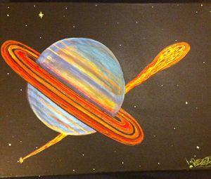 Secrett Saturn Pizza Comet