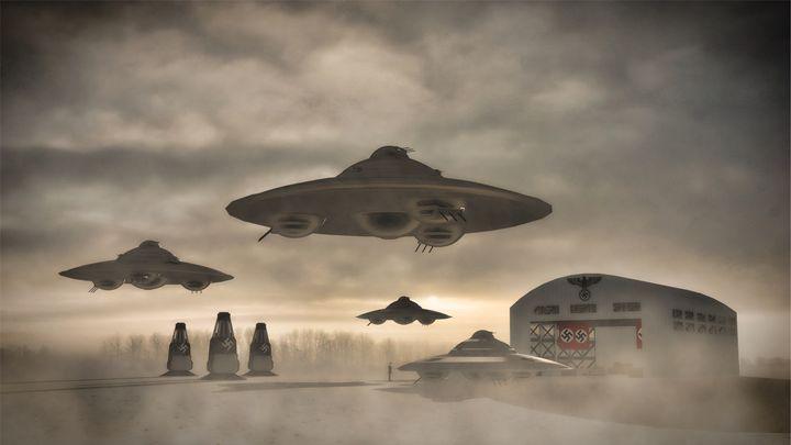 German WWII UFO by Raphael Terra - Esoterica Art Agency
