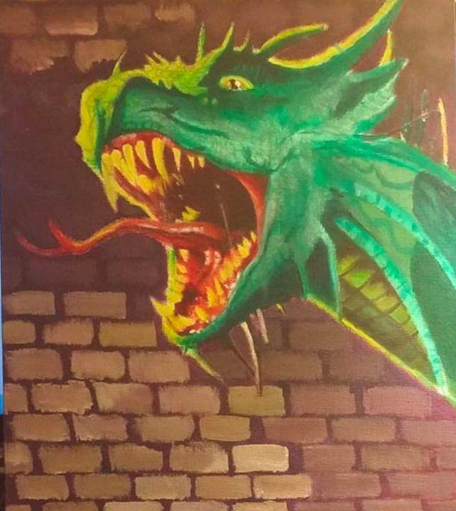 Dragon Tattoo Painting - James Draws
