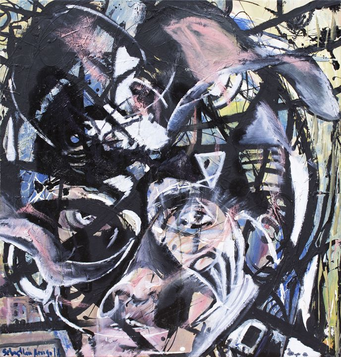 Mujer Abrasiva - SEBASTIAN ARANGO ART