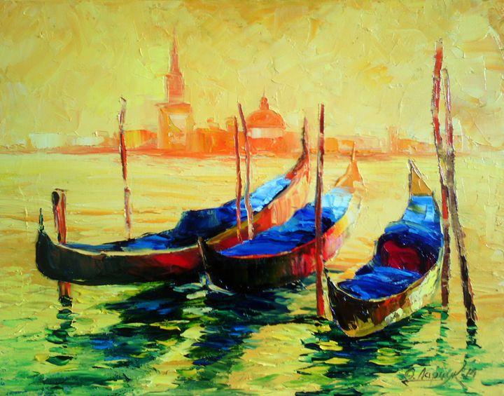 Gondolas In Venice - Olha Darchuk
