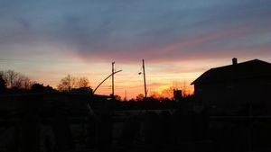 sunset in Flint Michigan
