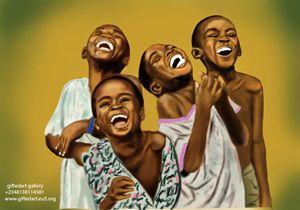 joy of african children