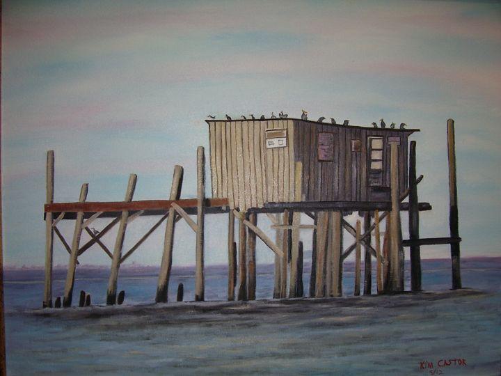 Ole Cedar Key Florida Dock - Kim Castor