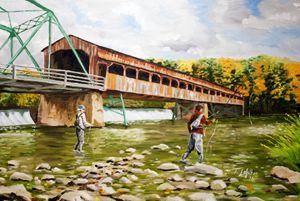 Fishing at the Bridge