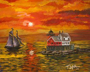Rockland Lighthouse Sunset