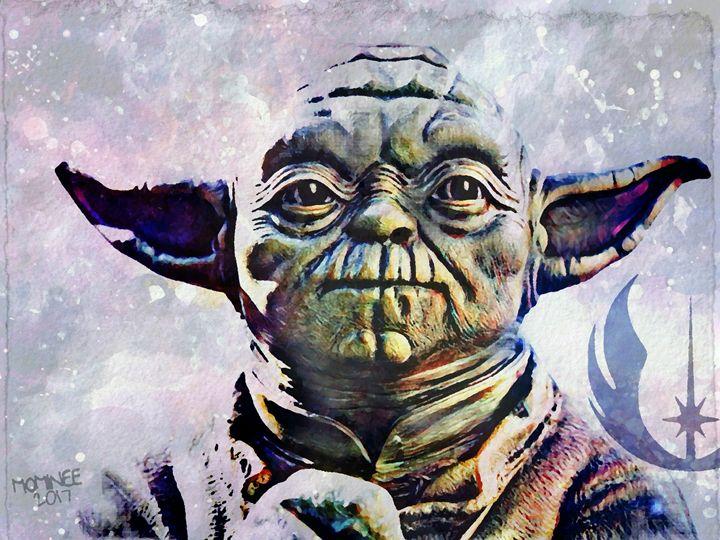 Yoda Galaxy - MOMINEE ART