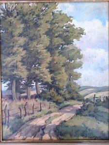 Wenzlaff lane across fields