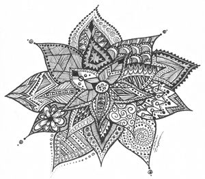 Zentangle Flower