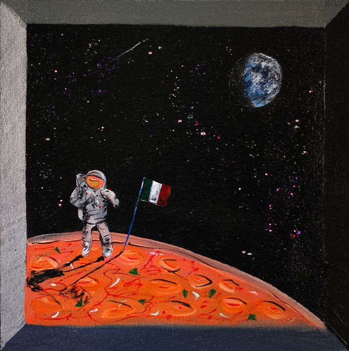 If Neil Armstrong was Italian - Kirby Lewis, West Virginia Artist